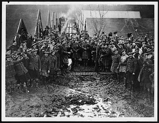 Happy Scottish troops on New Year's Day | by National Library of Scotland