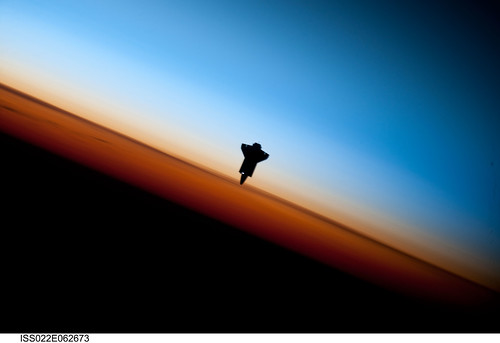 Space Shuttle Endeavour Over Earth (NASA, International Space Station Science, 02/09/10) | by NASA's Marshall Space Flight Center