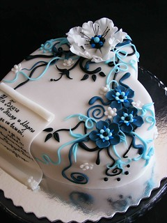 Beautiful Heart Cake Images : White, blue and black 2 Flickr - Photo Sharing!