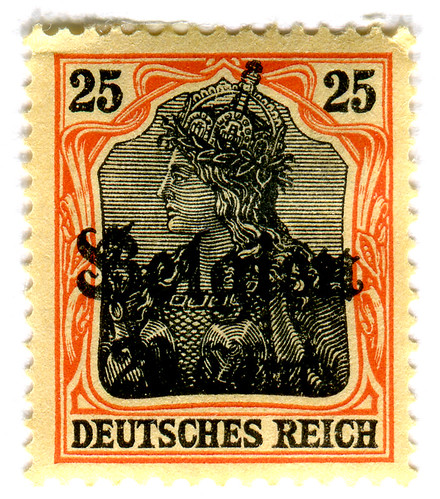 Germany Postage Stamp: Belgien overprint | by karen horton