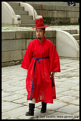 Man in a Traditional Costume at Gyeonghuigung Palace in Seoul, South Korea | by ILYA GENKIN / GENKIN.ORG