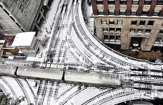 Snow Day Chicago: The Lake-Wells Interchange | by Jim Watkins Photography