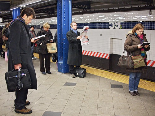 Old-school and New-school Subway Reading | by Ed Gaillard