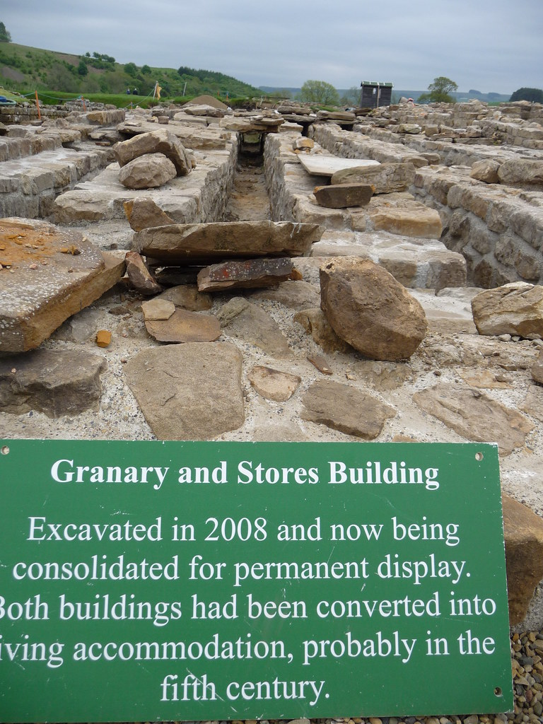 Granary and stores buildings at Vindolanda.