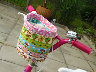 Kawaii fabric bike basket | by Ady Yong-Dando
