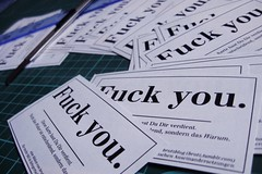 Fuck you cards. | by m.k.
