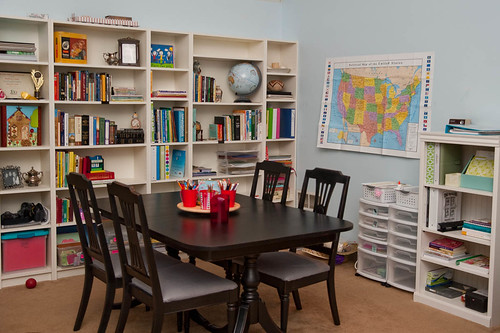 Schoolroom 1 jamie worley flickr for Homeschool dining room ideas