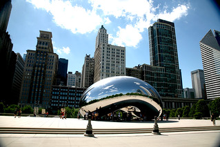 "Chicago (ILL), Millennium Park, Cloud Gate : "" the Bean "" Anish Kapoor 2004-06 