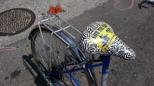 Bike decorating at our traffic calming block party flickr for 70 bike decoration