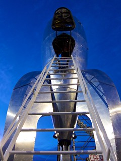 The mighty Raygun Gothic Rocketship at dusk | by Nick Winterhalter
