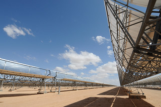 Solar panels at a thermo-solar power plant | by World Bank Photo Collection