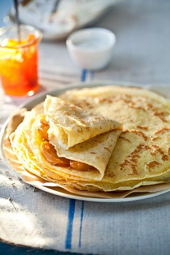 Gluten Free Crepes With Honey Lavender Roasted Persimmons | Flickr ...