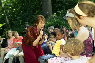 Diane telling in Central Park, 2007 | by diane.wolkstein