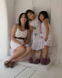 Mykonos Kelsey and the girls (cute!) | by Donna & Andrew