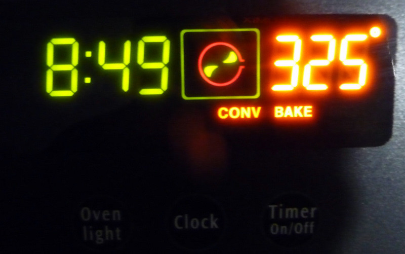 Interim Convection Oven Cooking Step