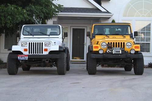 Jeep Wrangler Tj Vs Yj Comparo Side By Side White 1995 Jee Flickr