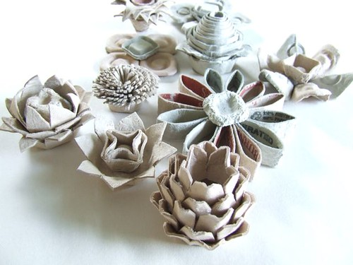 Egg Carton Flowers | by michele made me