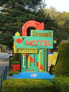 Fabuously Brightly Colored Vintage Motel Sign | by finsbry