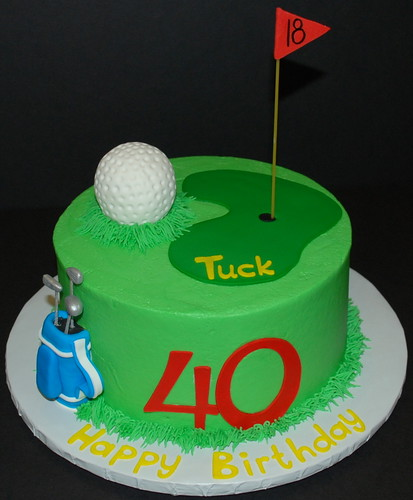 Fondant Golf Cake Design : Golf Birthday Cake Just finished up this cake for a ...