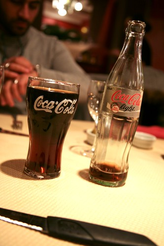 "France, Auvergne, Moulins (03), Pizzeria Don Camillo : "" Coca Cola light / Diet Coke "" (pour toutes nos soifs) 