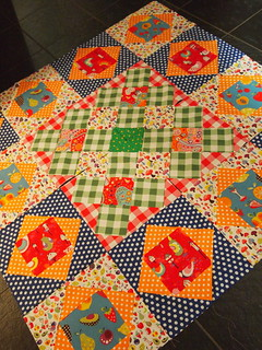 circus monkey quilt laid out | by ImAGingerMonkey