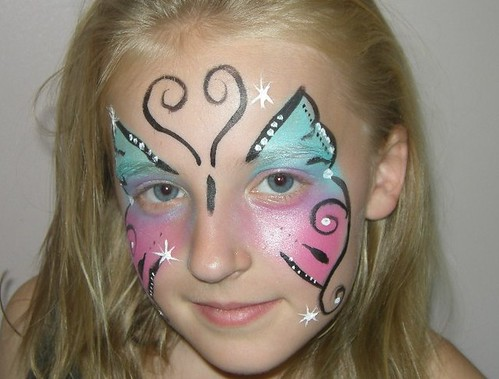 Face Painting Butterfly On Cheek