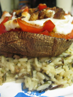 Vegan stuffed portabella mushroom | by davie_the_amazing