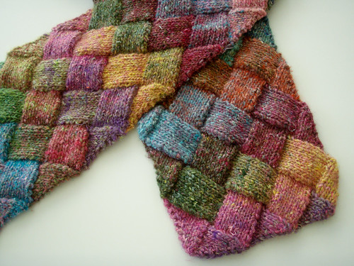 Entrelac Scarf | by frecklesandpurls