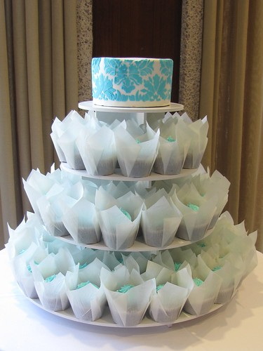 Tiffany Blue Wedding Cupcakes | by clevercupcakes