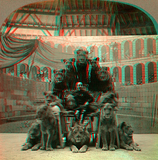 Lion Tamer and Lions, Hagenbach's anaglyph 3D | by depthandtime