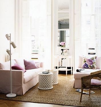 Domino living room pink feminine | by The Estate of Things