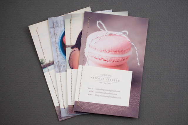 photography promo cards