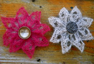 Lace Flower Pin | by kat coyle