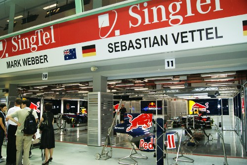Red Bull Singapore F1 Pit Garage | by izreloaded