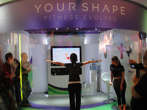 E3 2010 Xbox 360 Kinect Your Shape Fitness Evolved demo booth | by Doug Kline