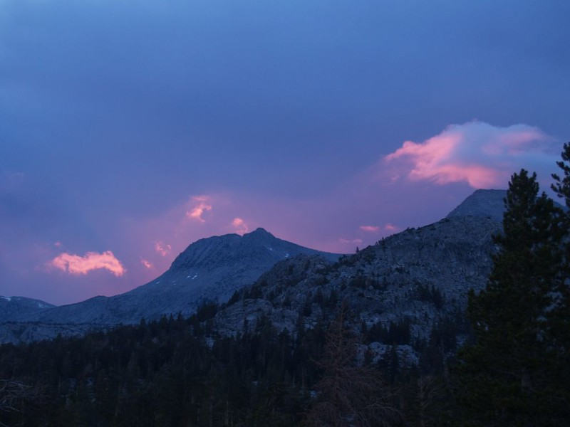 Sunset clouds over Donohue Peak