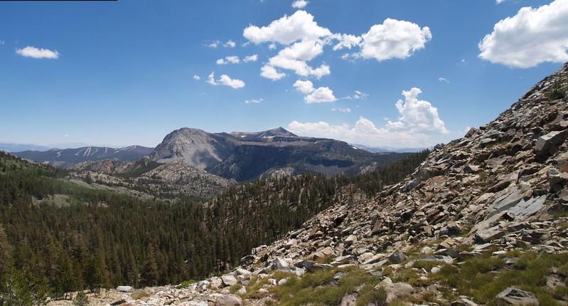June Mountain Ski Area on the left, San Joaquin Mountain, center