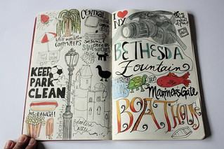 Sketchbook Project 2011 - pgs 12-13 | by ecdesignz