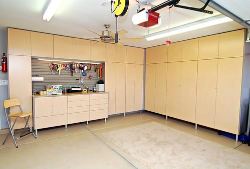 Garage Storage Using Kitchen Cabinets