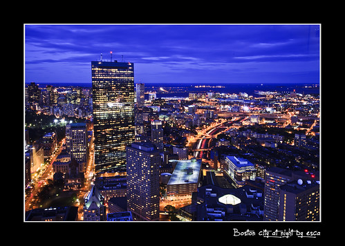 Boston city at night | by Iñigo Escalante