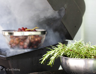 Rosemary Smoked Grapes | by Elissa @ 17 and Baking