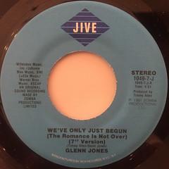 GLENN JONES:WE'VE ONLY JUST BEGUN(LABEL SIDE-A)