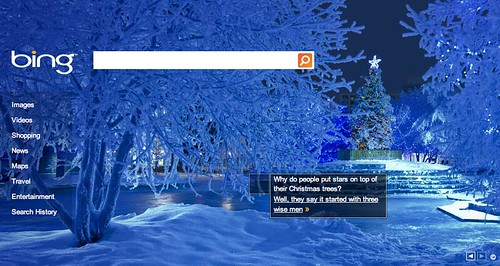 Bing Christmas Logo | by rustybrick