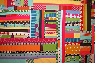echino strip quilt | by filminthefridge
