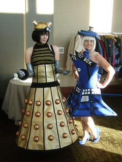 Dalek Dress & Police Box Dress | by lesather