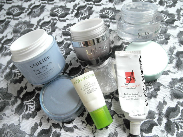 Skincare Empties Moisturizer Night Cream Laneige Alpha Hydrox Vichy Face Shop Ujene
