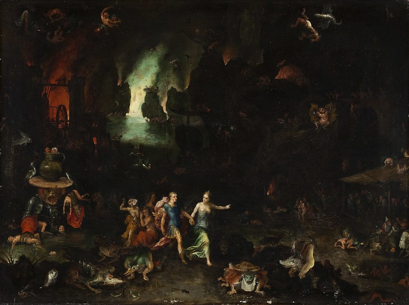 Aeneas og Sibyllen fra Cumae i underverden