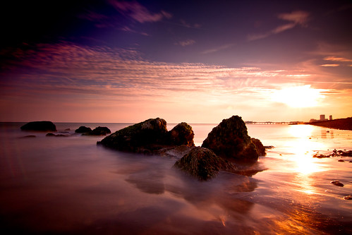 Brighton Beach sunset long exposure (124/365) | by Rob Webb.