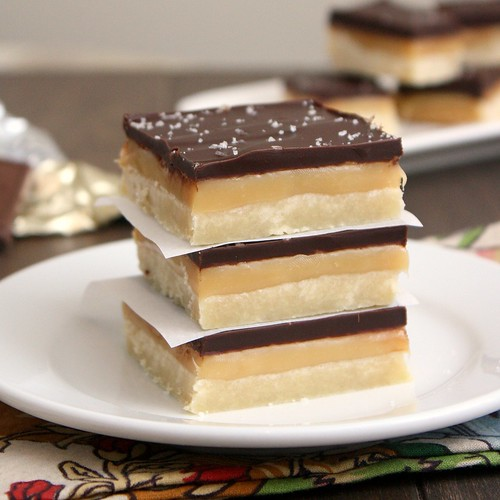 Salted Caramel Chocolate Shortbread Bars | by Tracey's Culinary Adventures