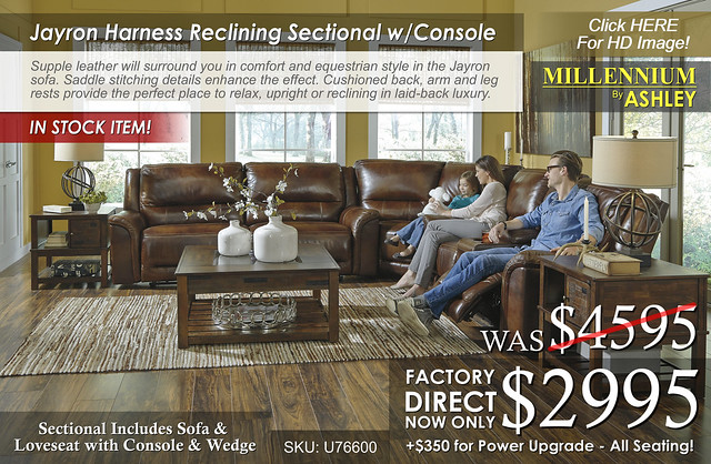 NEW - Jayron Harness Reclining Sectional wConsole